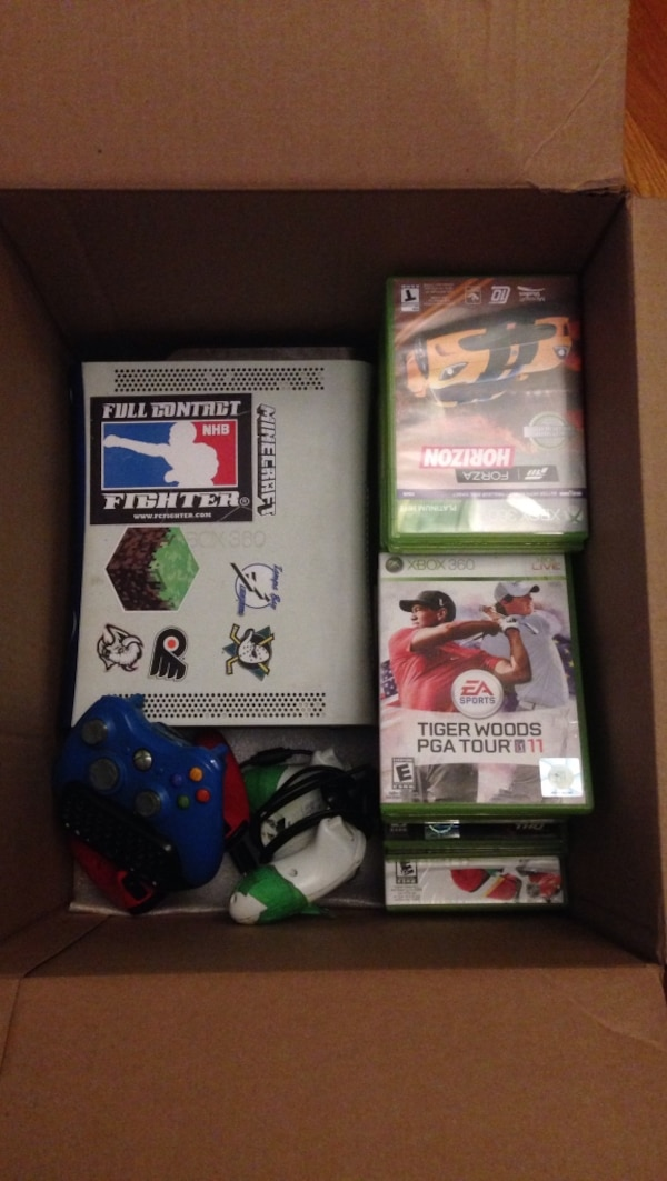 Xbox 360 + a bunch of games