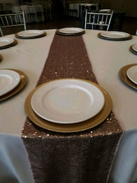 Gold or Silver Charger Plates .50 cents rental Vaughan, L4L 1G2