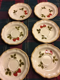 Vintage strawberry plate, missing cups North Charleston, 29418