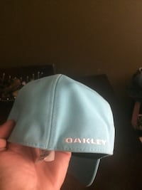 White and green fitted original Oakley cap