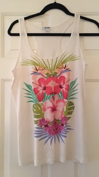 white and yellow floral print tank top Surrey, V3W 5V6