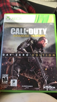 Call of Duty Advanced Warfare Xbox 360 game case