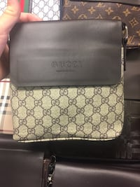 Brown and black Gucci LV leather crossbody bag Montréal, H4M 2K6