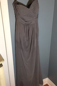 Long Grey Formal Dress