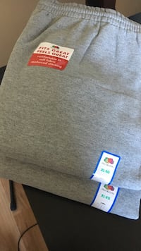 Fruit of the loom XL gray pants NEW