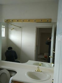 Free bathroom mirror 61.5 wide x 42 height