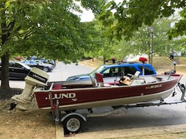 Fishing Boat with Trailer and Cover