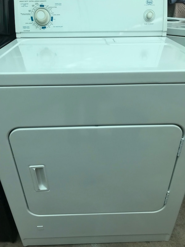 Two shiny and beautiful kenmore and roper gas dryers 1ea23631-ac34-4403-909f-8042b4c696f3