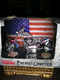 BEAUTIFUL DIE CAST NATION GUARD PATRIOT BIKE 1:18 SCALE SERVING US USA