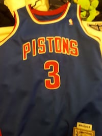 blue and red Detroit Pistons 3 jersey Surrey, V3T 1Z3