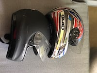 Motorcycle jacket, gloves and 2 helmets $140 Tampa