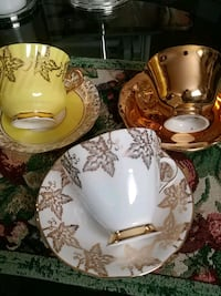 Set of 3 vintage collectible cups and saucers, $18.00 each one Laval, H7G 1G2