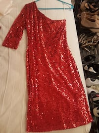 Medium red sequin dress Falls Church, 22043