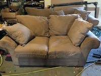 Light brown suede matching sofa & love seat Middle Island, 11953