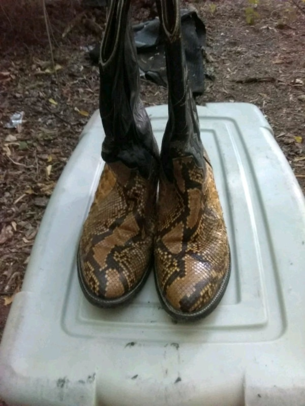 1e5dd08acfd Cowtown Men's Snake Skin Boots