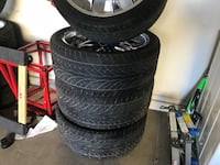 24s rims on 305/35/24 tires. The tires are 70-80% they will fit well on trucks or suvs if you want meat on you tires Burnaby, V5G 1C7