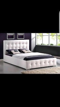 New queen diamond bed frame only $398