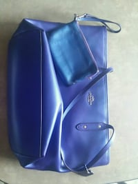 blue leather crossbody bag and wallet Barberton, 44203