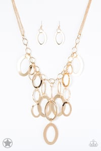 gold-colored necklace with pendant Hyattsville