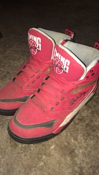 White-and-red patrick ewing basketball shoes Vaughan, L4J