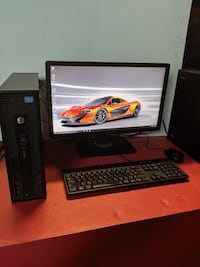 "HP EliteDesk G1 800 Desktop 8GB Ram Complete Desktop w/22""Monitor"