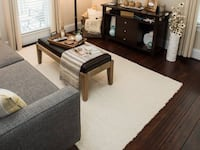 West Elm rug & Pottery Barn premium rug pad Raleigh