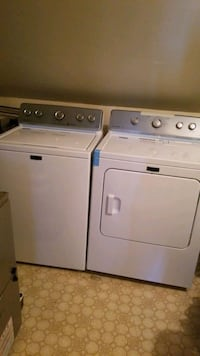 Mayteg washer and dryer, gently used pet free home. Calgary, T1Y 5V2