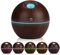 Wood Grain Office Home Aroma Essential Oil Diffuser Mist Humidifier Palm Coast