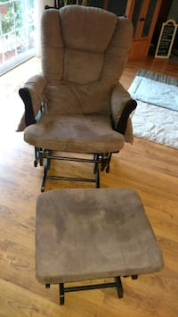 brown wooden rocking chair with ottoman Rancho Cordova, 95670