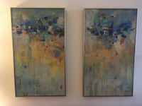 Pair of Abstract Paintings New York, 11373