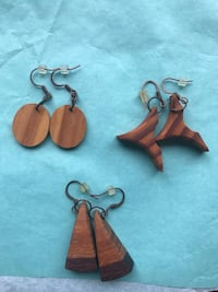 Hand-crafted wooden earrings