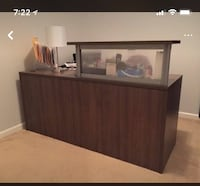 Soft Brown desk comes with an attachment cabinet that can hang on the wall as well Sacramento, 95833