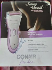 white and purple Conair hair clipper with box Surrey, V3T 1Z4