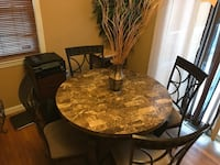 Dining table with chairs 350$ or OBO Springfield, 01109