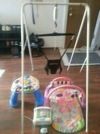 baby's white and pink swing chair Edmonton, T5L 4Y2