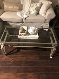 Glass and metal coffee table  Arlington, 22204