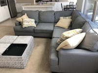 Sectional couch and pillows Irvine, 92618