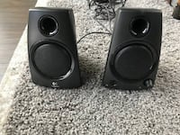 two black Logitech multimedia speakers Washington, 20009