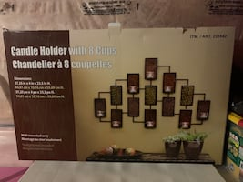 Candle holder wall mounted
