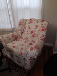 Large rocking chair. Plush and comfy.