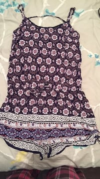 purple and white floral sleeveless dress Halifax, B4C 4A2