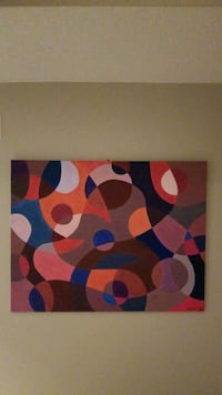 large hand painted acrylic abstract painting Ottawa, K1G 5P7