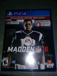 Madden NFL 18 PS4 game case Xenia, 45385