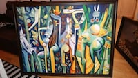 Cuban Abstract Painting w/frame Toronto, M9C 0A2