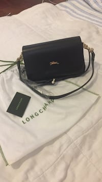 Longchamp leather crossbody bag. Color: black. Authentic. Brand new Rodeo, 94572