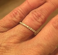 Eternity Band - 18K white Gold 1.62ct wt Size 7 36-1 points This ring retails for $1,300