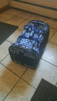 black and blue floral luggage East Newark, 07029