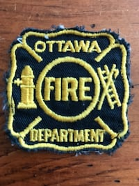 Vintage Ottawa Fire Department Uniform Patch Firefighter fighter Ottawa, K0A 3H0