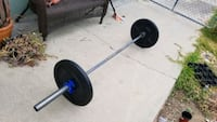 Used 45lb 7ft barbell