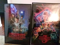 Stranger Things season 1 and 3 posters framed  Eatontown, 07724